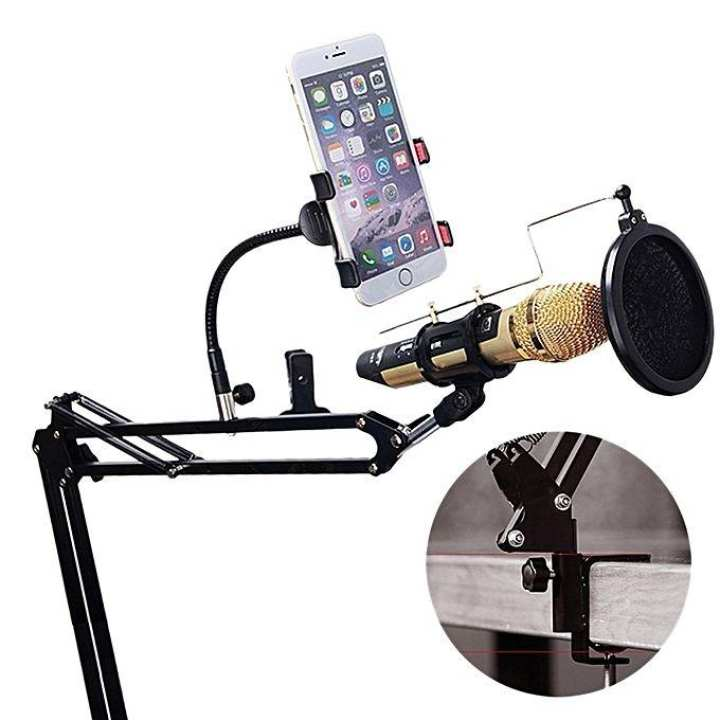 CK100 Microphone and Smartphone Lazypod Stand - Black