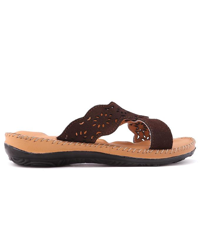 Dr.Mauch PU Casual Flat Sandals - Brown