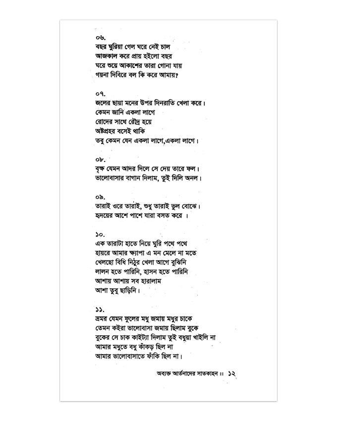 Obekto Artonader Satkahon by Nizam Sarkar