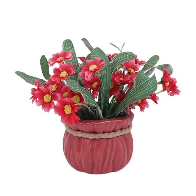 Plastic Flower - Red