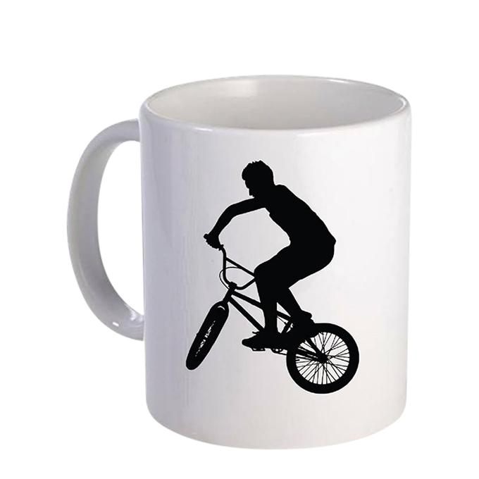 Cycle Ride Ceramic  Mug - White
