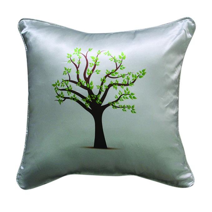 Big Tree Printed Cushion Cover - Gray