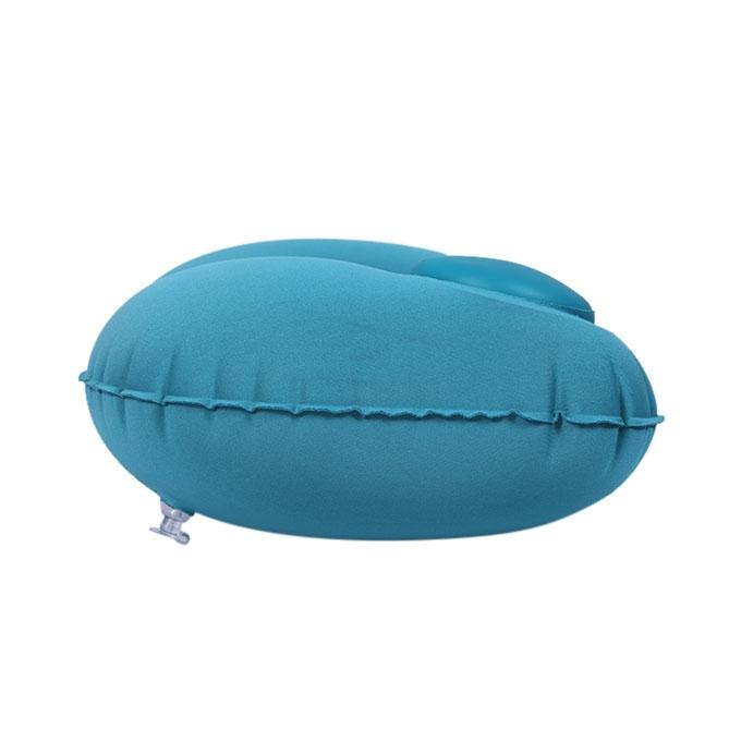Romix UShape Neck Pillow Inflatable With Hand and Foldable- Blue