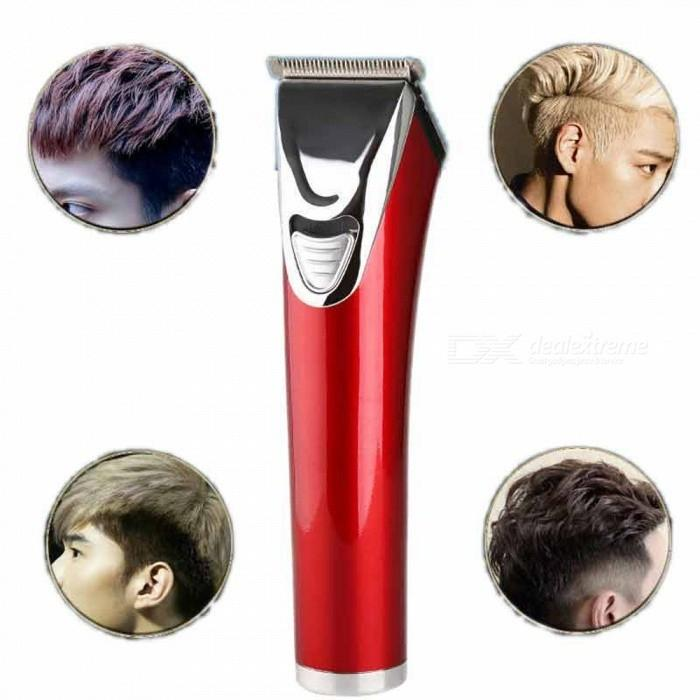 KM-841 Professional Electric Hair Clipper and Trimmer - Red