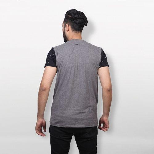 Gray Cotton T-shirt For Men