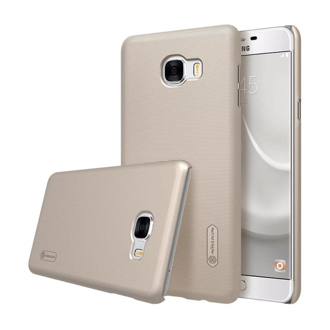 Gold Super Frosted Shield Back Cover for Samsung Galaxy C7(C7000)