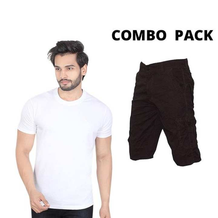 Combo Of  Shorts And T-Shirt For Men