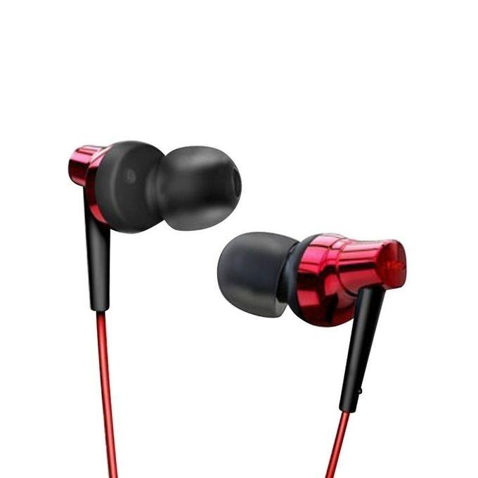RM-610D Super Base In-Ear Wired Earphone - Red