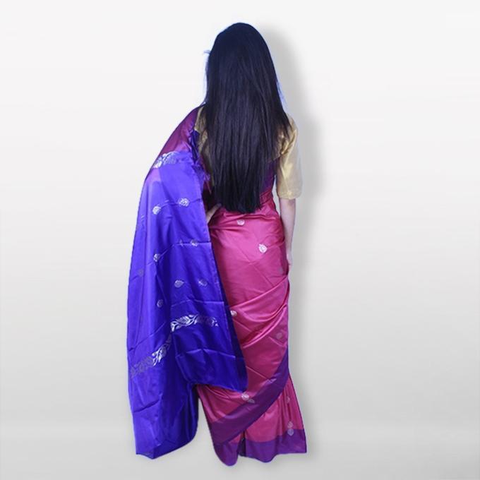 Violet Katan Saree For Women
