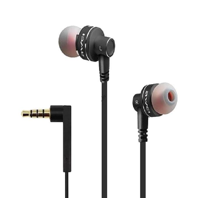 ES10TY Super Bass Noise Isolation In-ear Earphones with MIC - Black