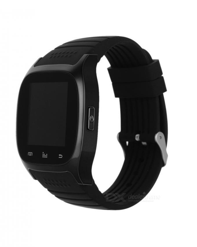 T28 Rubber Bluetooth Smart Watch - Black