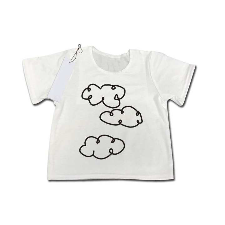 Summer Baby Girls Boys Unisex Casual Short Sleeves Clouds Printing T-shirt