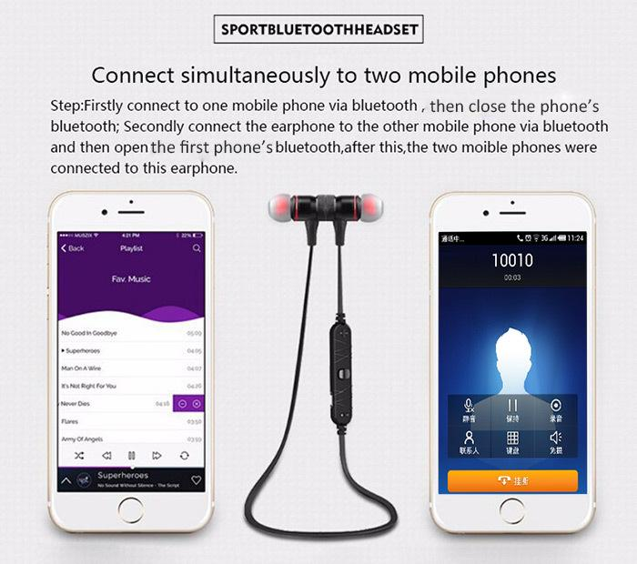 Awei A920BL Smart Wireless Bluetooth 4.0 Sports Stereo Earphone Noise Reduction with Mic