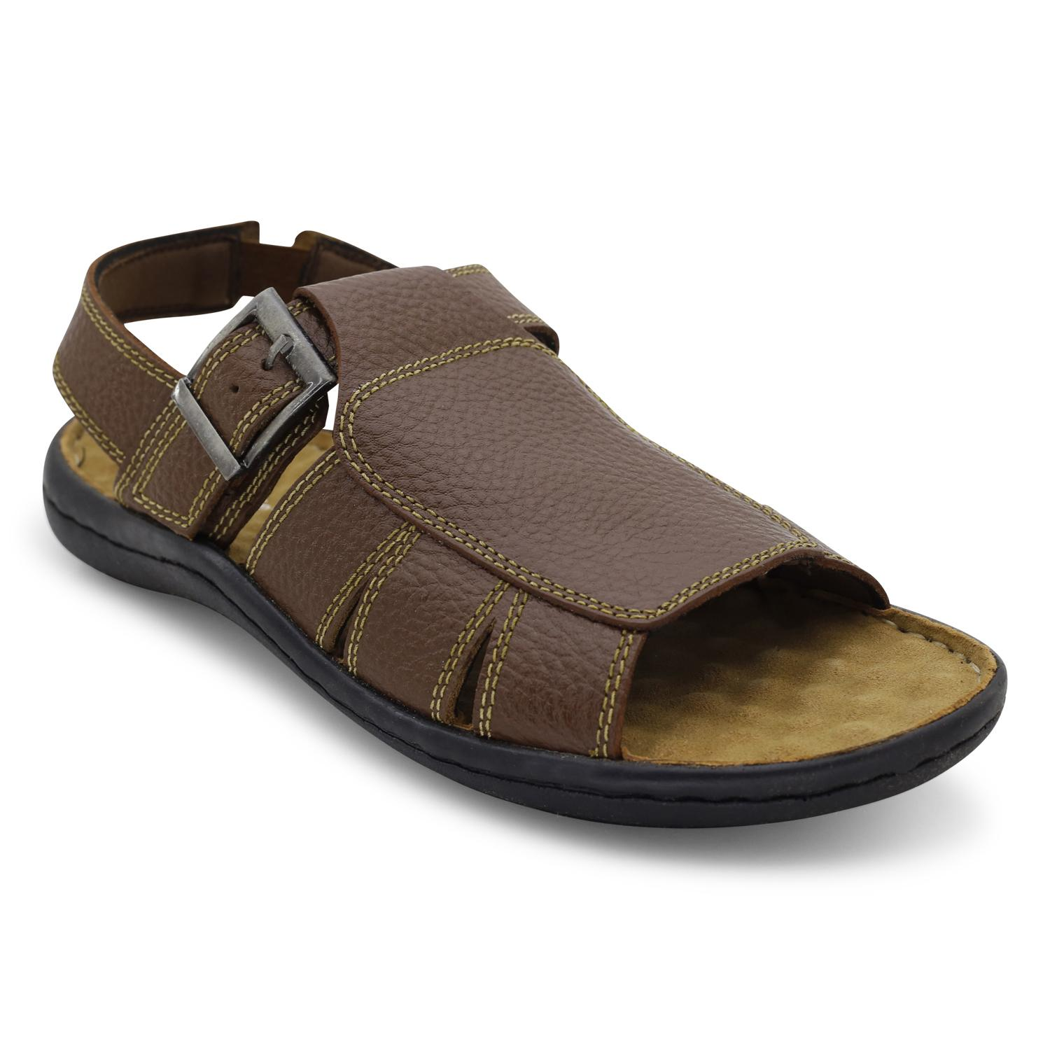 1f1c586eda51d Product details of HUSH PUPPIES Black Pure Leather Casual Sandals For Men