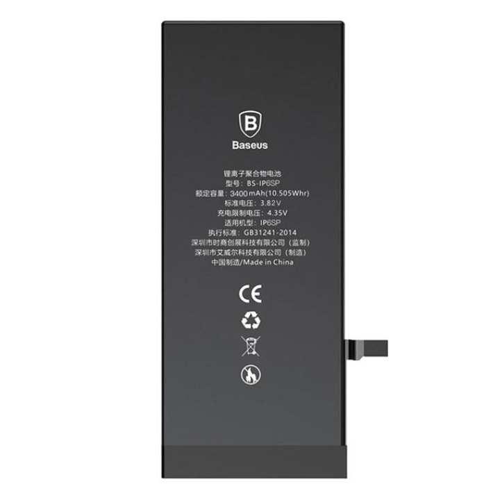 High Capacity iPhone 6s Plus Battery – 3400 mAh - Black