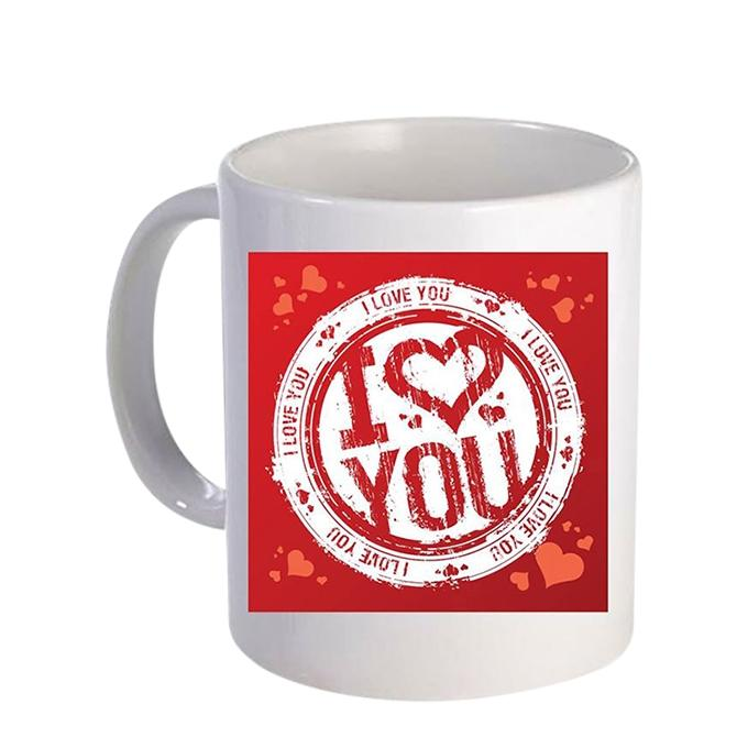 I Love You (Red) Ceramic  Mug - White