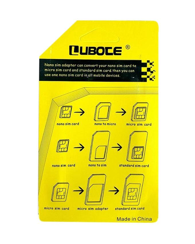Lubote 5 In 1 Nano Sim Adapter