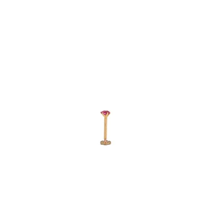 Gold Nosepin Purple Single Stone