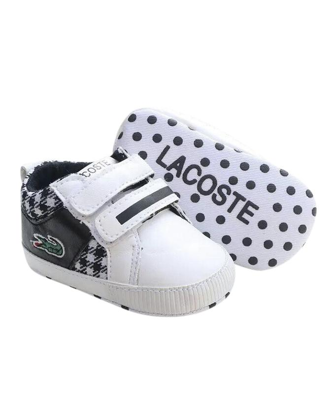 Black and White Cotton Sneaker For Boys