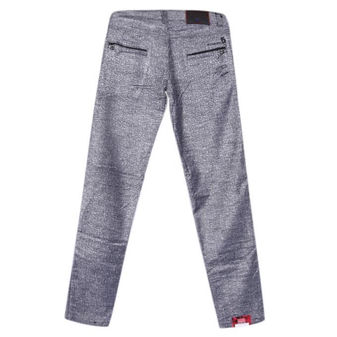 Gray Velvet Casual Pant For Boys