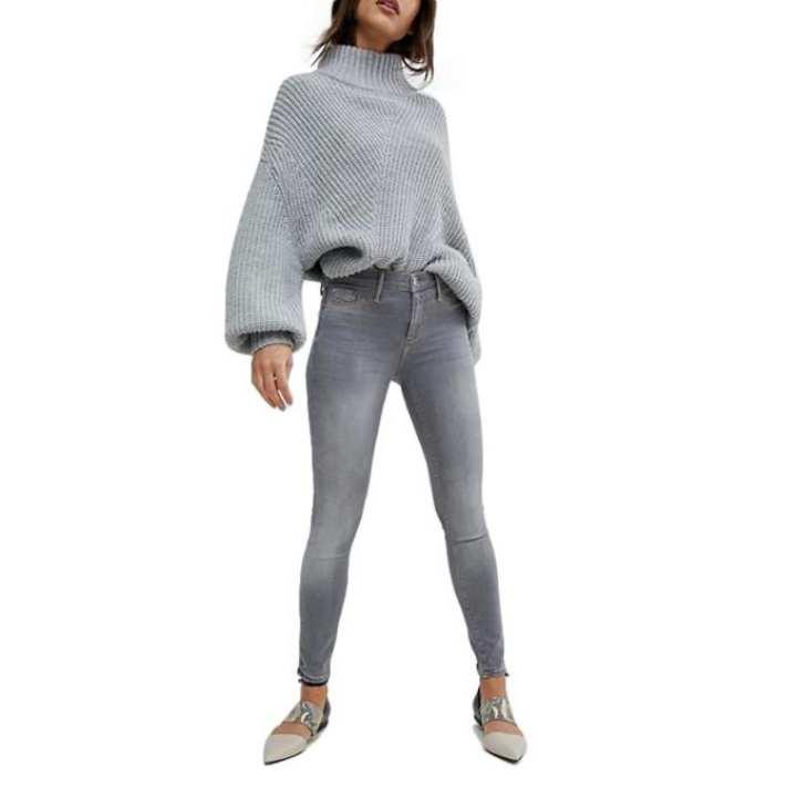 Gray Denim Jeans for Women