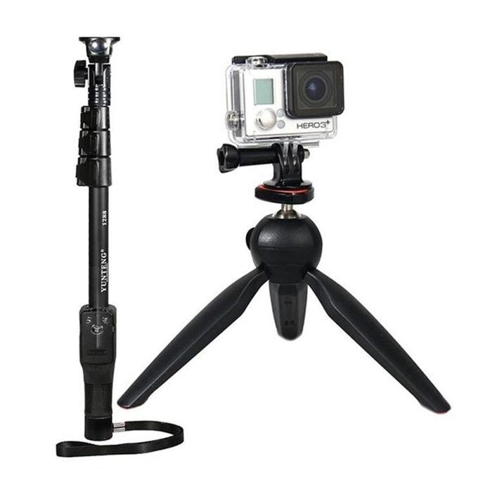Combo of  YT-1288 Monopod Selfie Stick and 228 Mini Tripod Holder