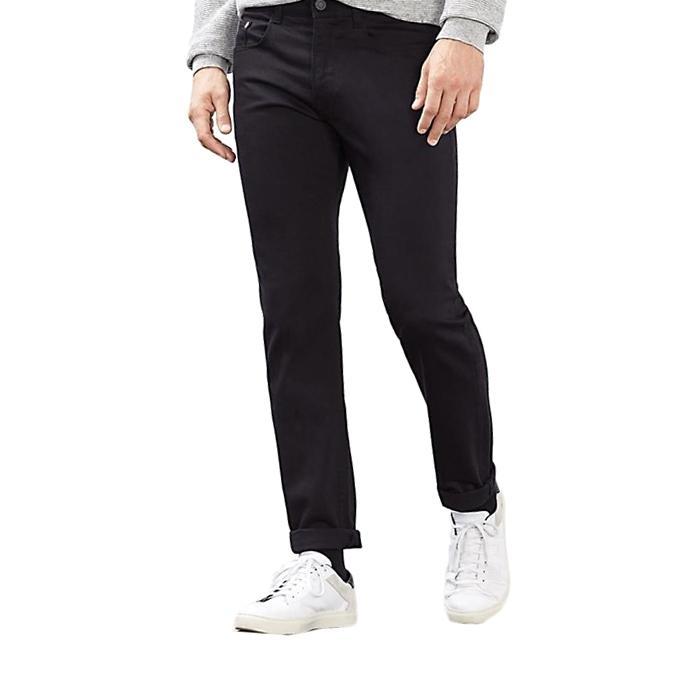 Black Twill Gabardine Pant For Men