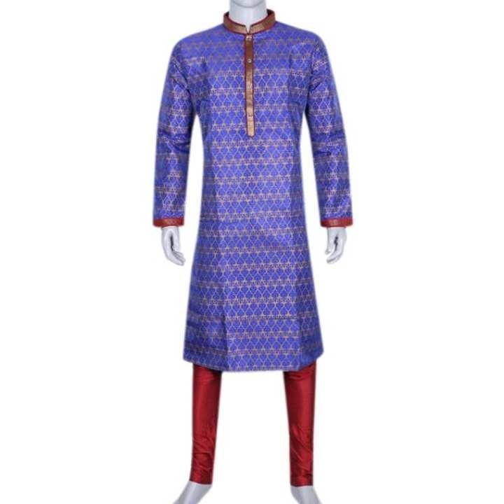 Katan Casual Panjabi For Men - Blue