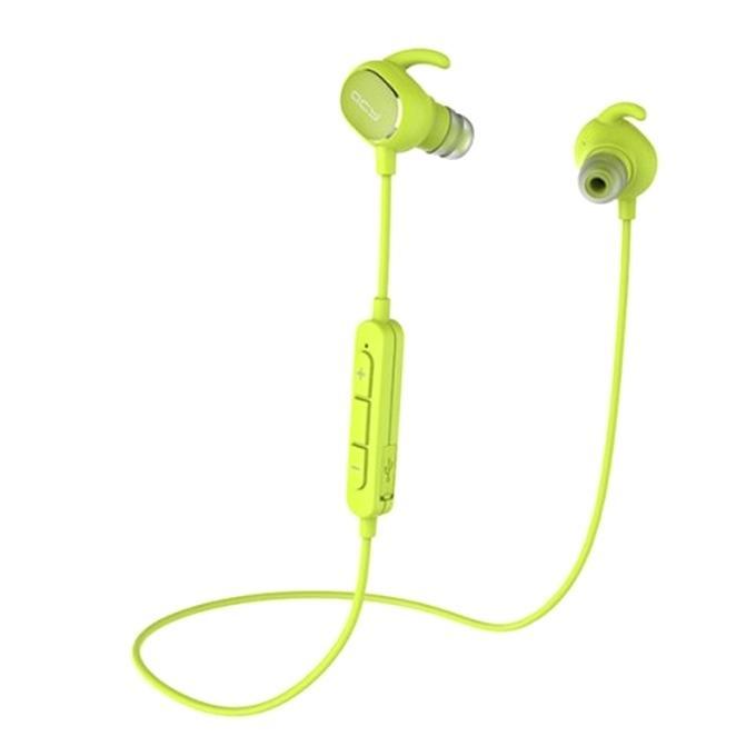 QY19 Bluetooth In-Ear Stereo Wireless Earphones – Green