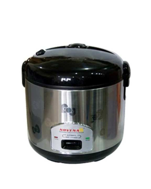 Rice Cooker - 1.8L - Silver and Black