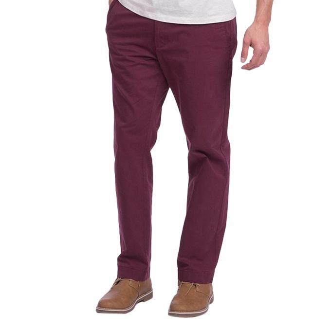 Maroon Twill Semi Narrow Gabardine Pant for Men