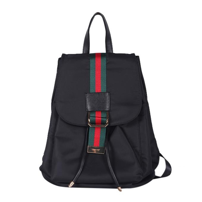 Black Polyester Backpack For Men