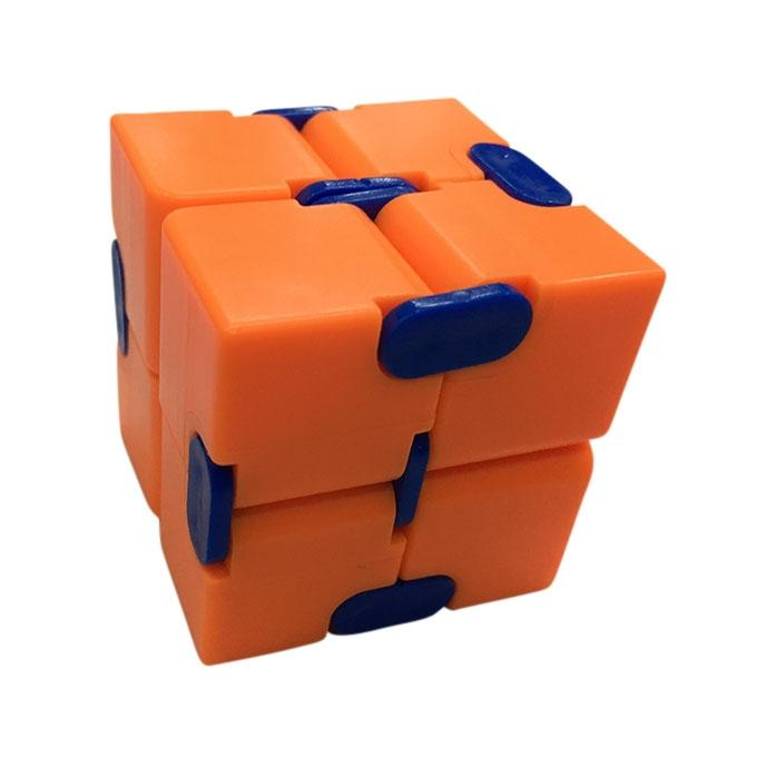 Infinity Cube Fidget Toy – Orange