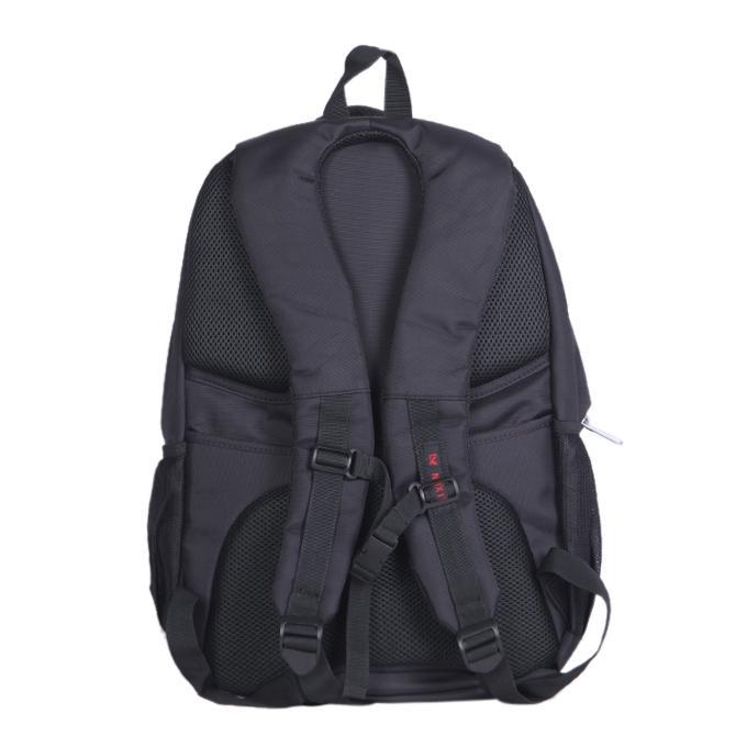 Black Polystar Backpack For Men