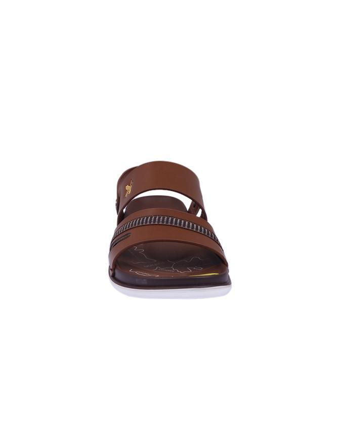 Leather Sandal For Men - Brown
