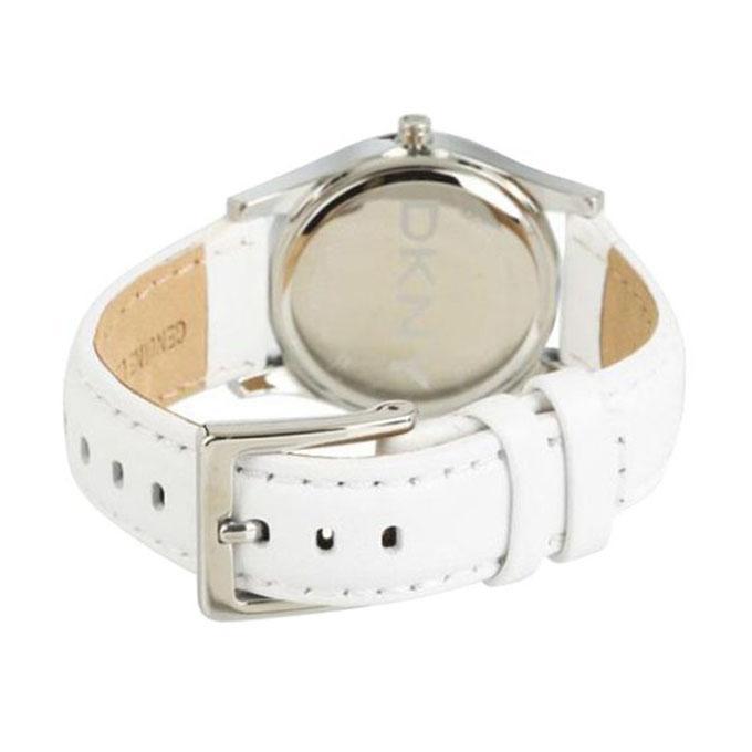 Leather NY8376 Wrist Watch - White