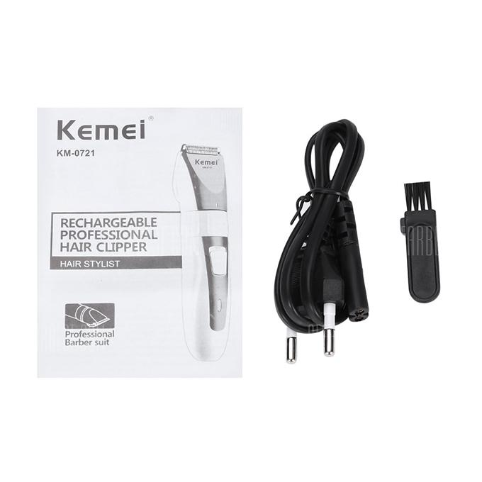 KM-0721 Adjustable Rechargeable Hair Trimmer - White