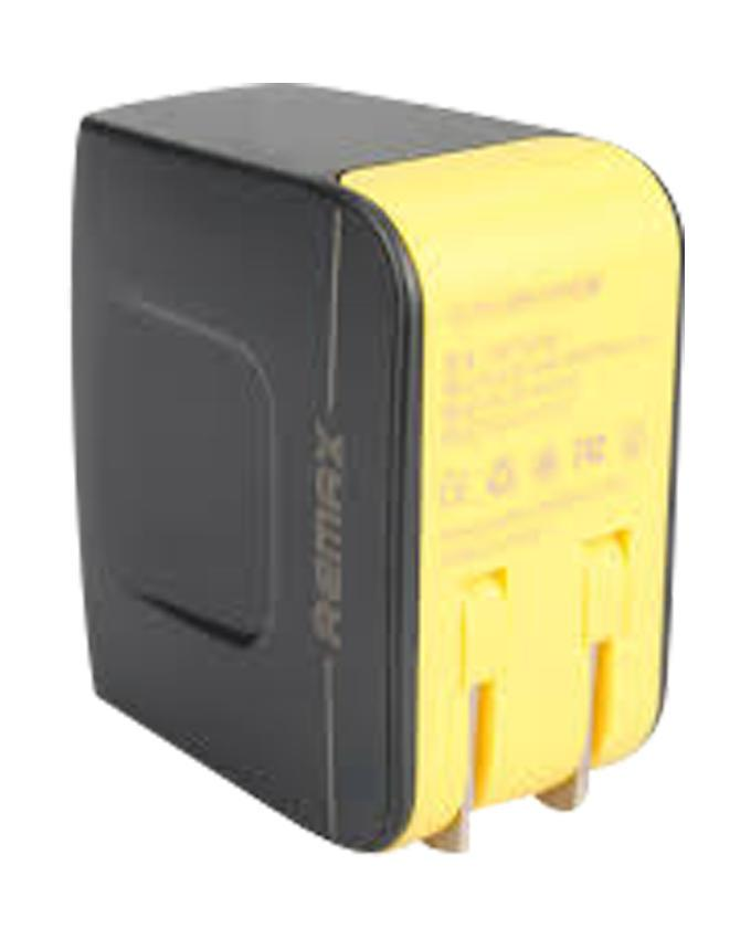 RMT6188 - 3.4A Dual USB Charger - Black and Yellow