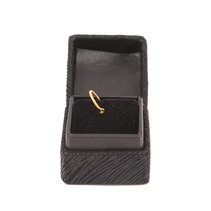 Gold Noth Spring Solid Round Ring
