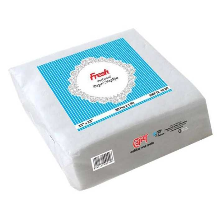Fresh Perfumed Paper Napkin (80 Pcs x 1 Ply) - 2 Box Combo