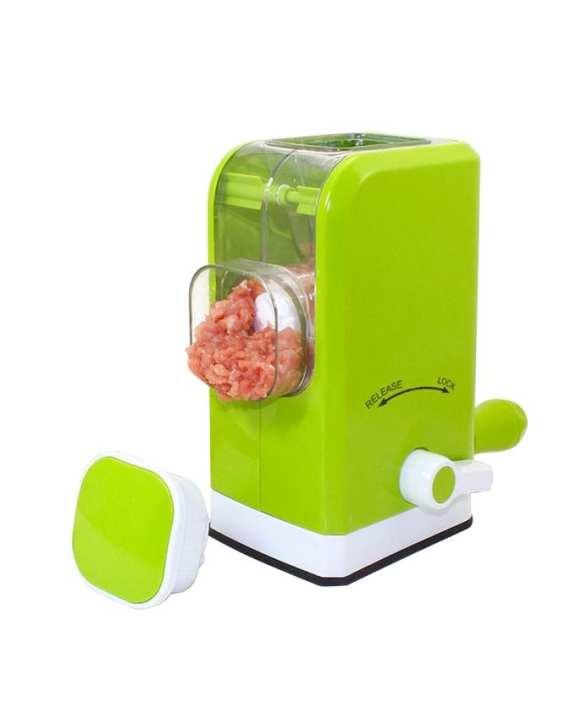 Manual Meat Grinder Slicer - Green