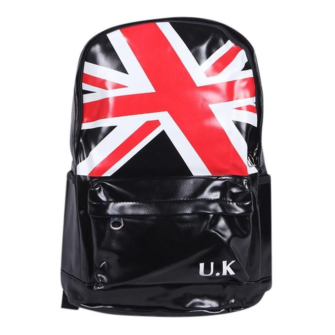 Black Polyester Backpack For Men