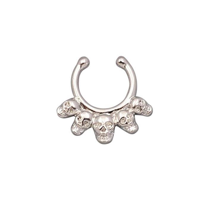 Silver Zinc Alloy Nose Ring For Women