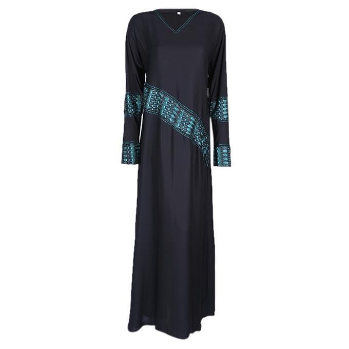 Black Georgette Casual Borka For Women