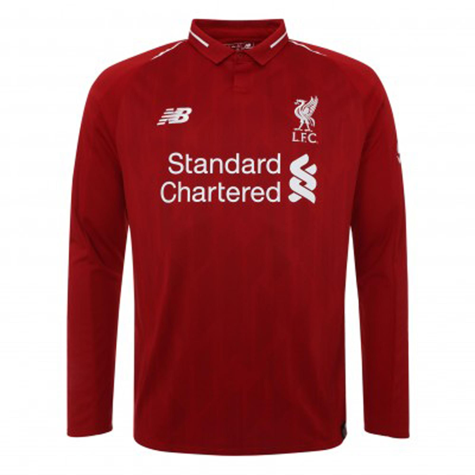 info for 9be7e a1488 Liverpool 2018/19 Home Jersey - Long Sleeve