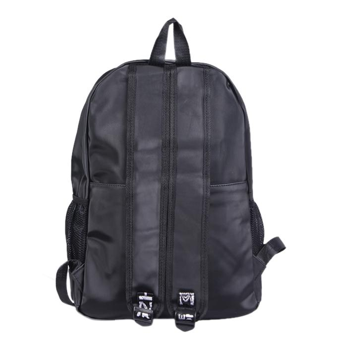 Gray Polyester Backpack For Men