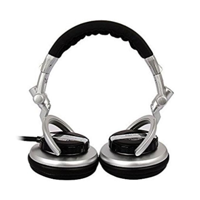 Hifi Subwoofer Enhanced Super Bass Noise-Isolating DJ Headphone ST-80 - Silver