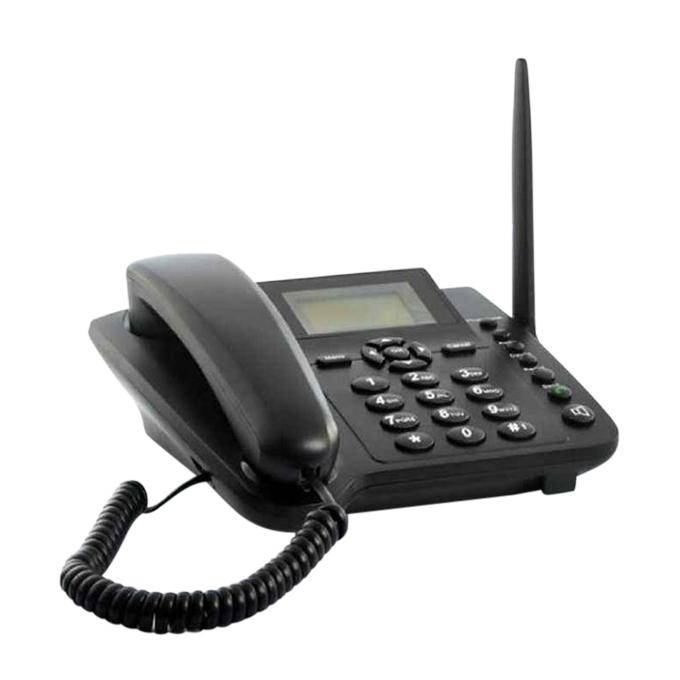 Dual SIM TD/GSM Wireless Telephone - Black