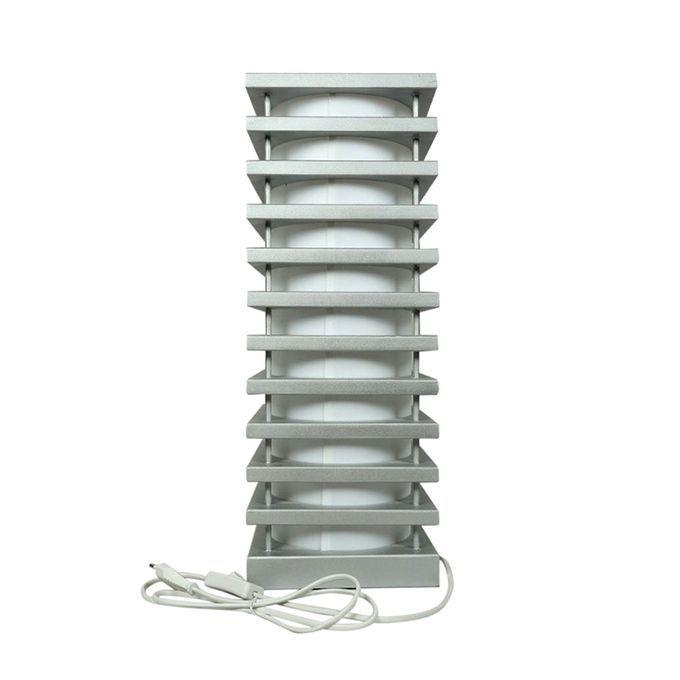"20"" Corner Stand Lamp - Silver"