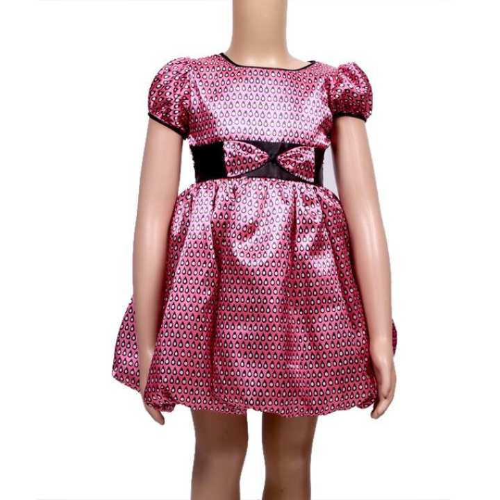 Multi Color Net Silk Party Frock For Girls